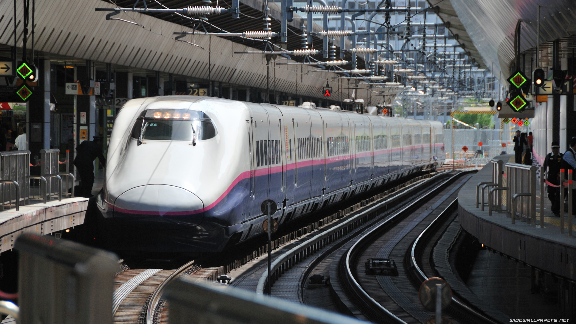 Japan High speed trains desktop wallpapers HD and wide 1920x1080