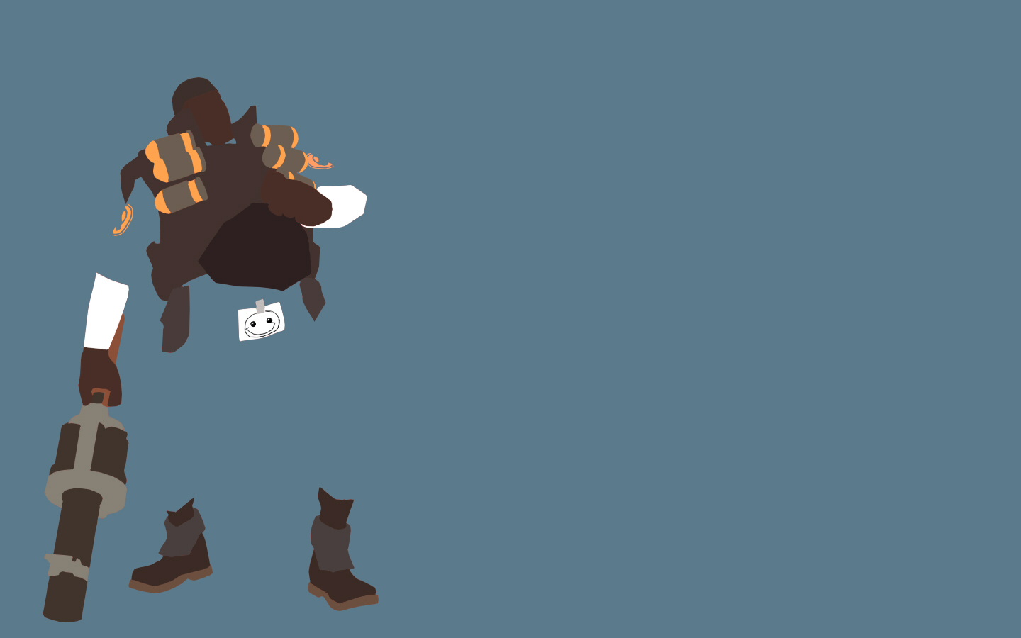 TF2 Blu Demoman Minimalist Wallpaper by bohitargep 1440x900