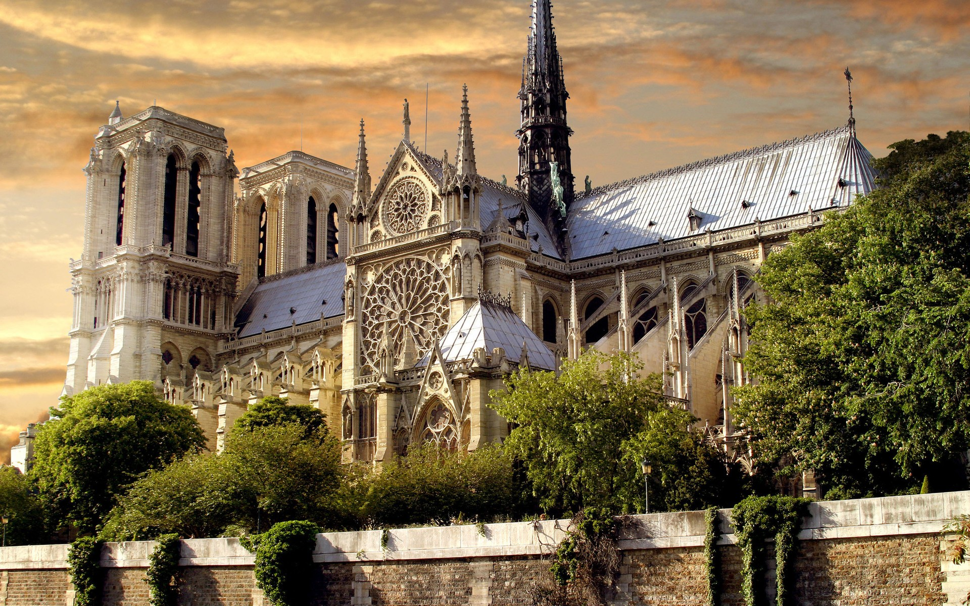 fond ecran cathedrale notre dame paris wallpaper hd 1920x1200
