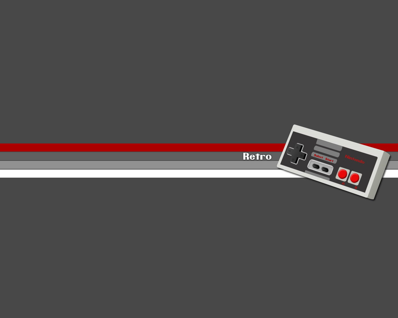 Old school Retro style console controller desktop wallpaper 1280x1024