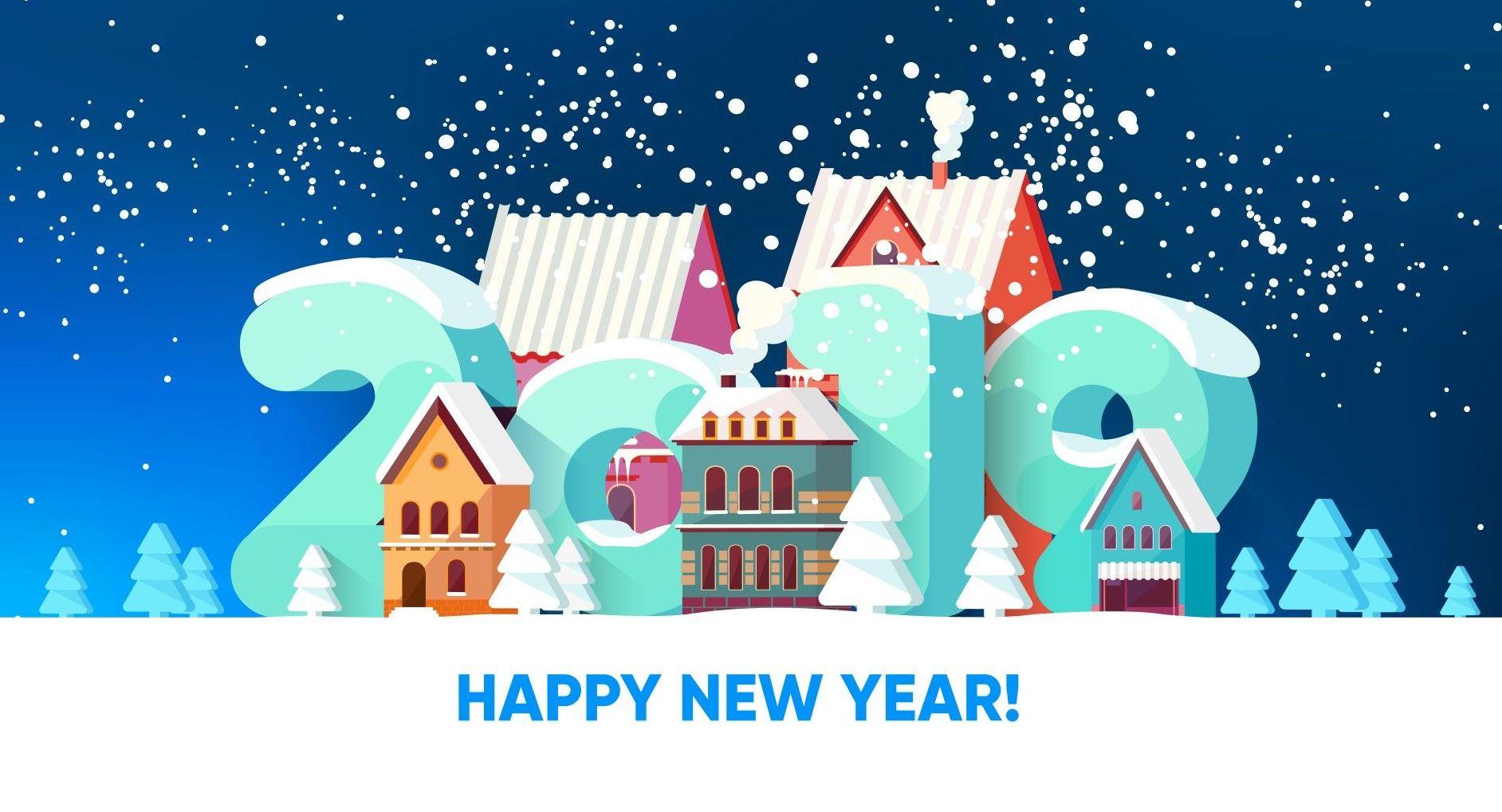 Beautiful New Year Wallpaper HD for your desktop 1884x1019