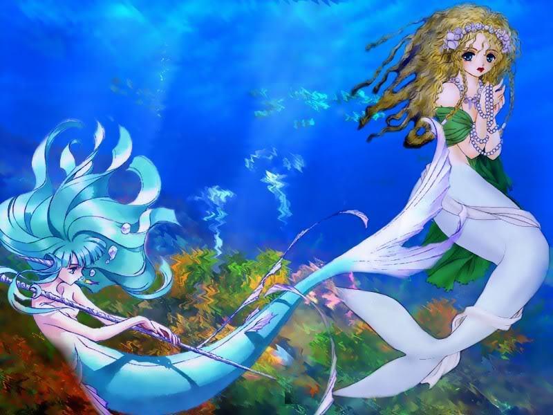 Anime Mermaid Wallpape...