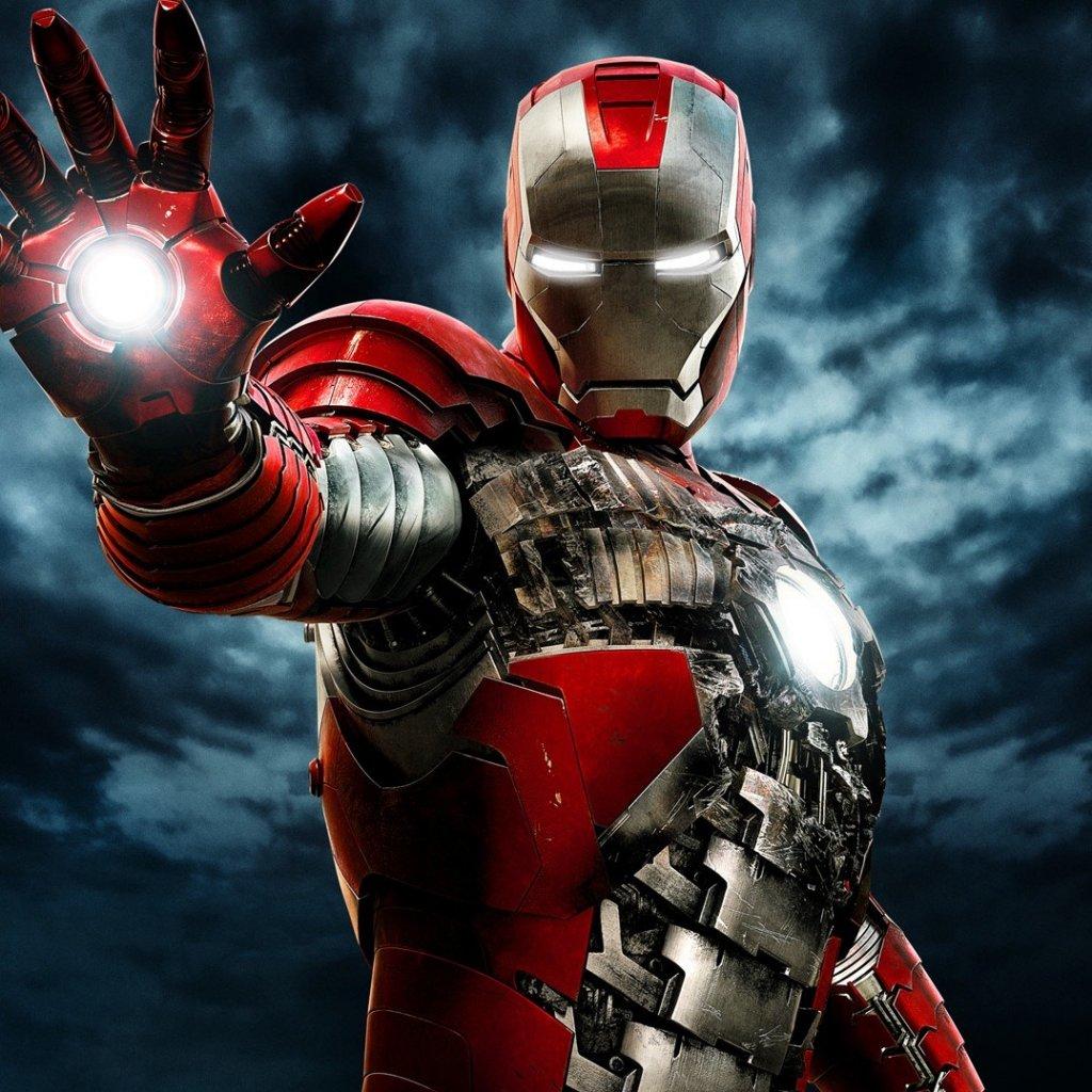 The Iron Man 2 suitcase armor IMAX one sheet ipad wallpaper 1024x1024