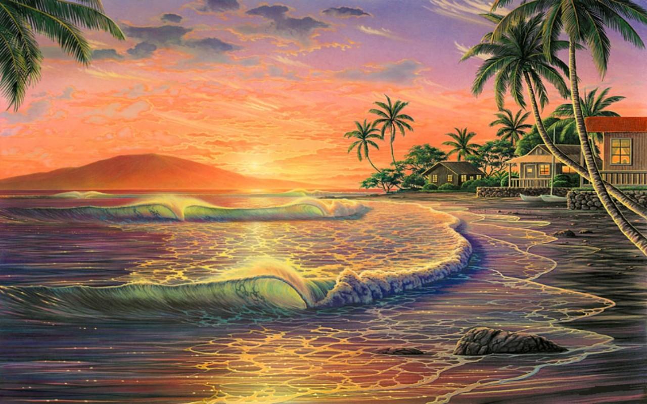 HAWAIIAN SUNSET wallpaper   ForWallpapercom 1280x800