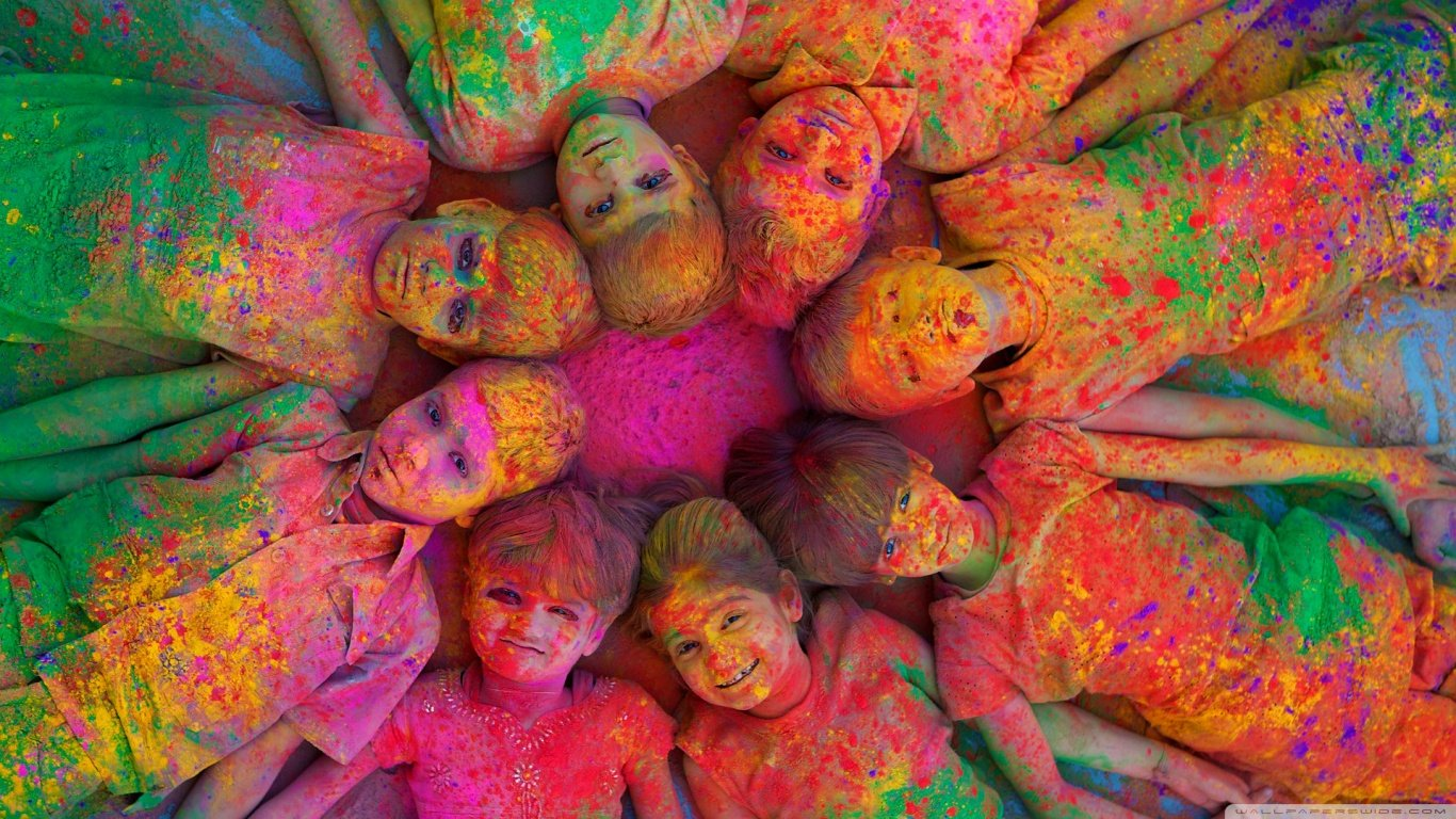 Happy Holi HD Images Wallpapers Pics Download 1366x768