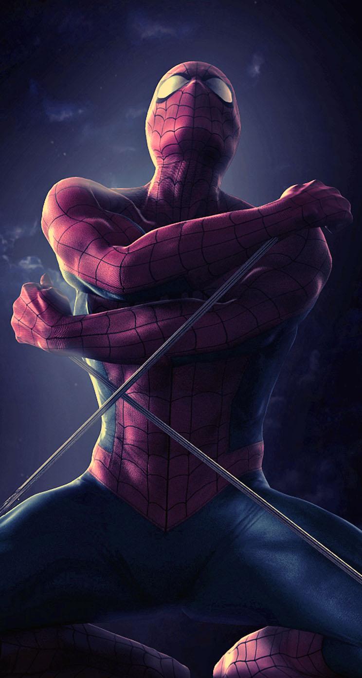 spider man iphone wallpaper tags comics marvel powerful spider man 744x1392