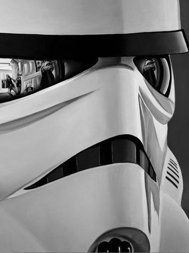 Stormtrooper with reflections screensaver for Amazon Kindle 3 375x500