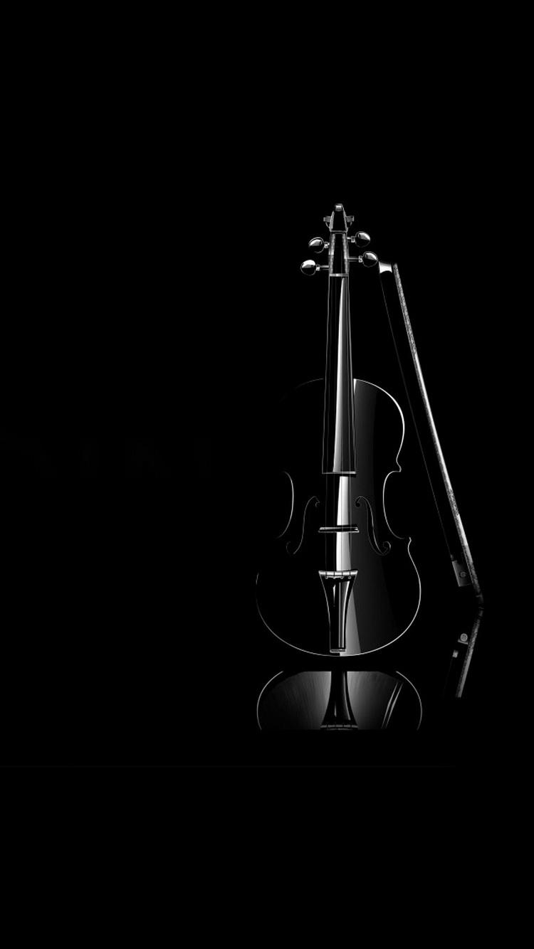 Black Violin Elegant iPhone 6 Wallpaper iPod Wallpaper HD 750x1334