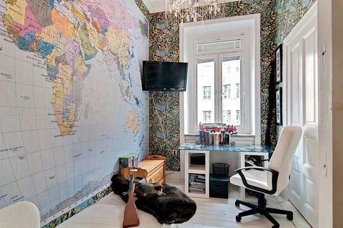 World map wallpaper for home wallpapersafari for Wallpaper home office