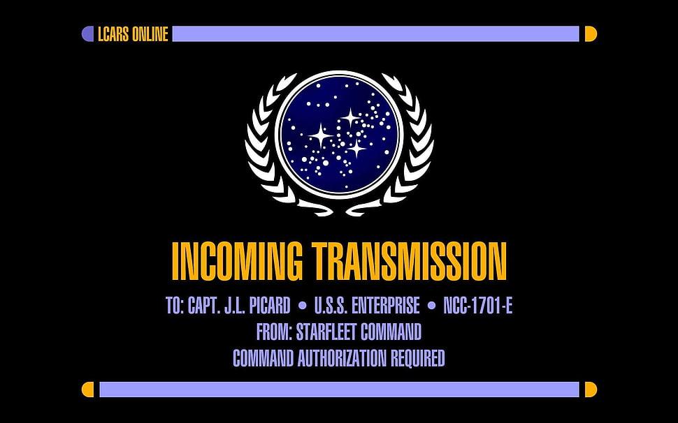 Incoming Transmission advertisement Star Trek USS Enterprise 970x606