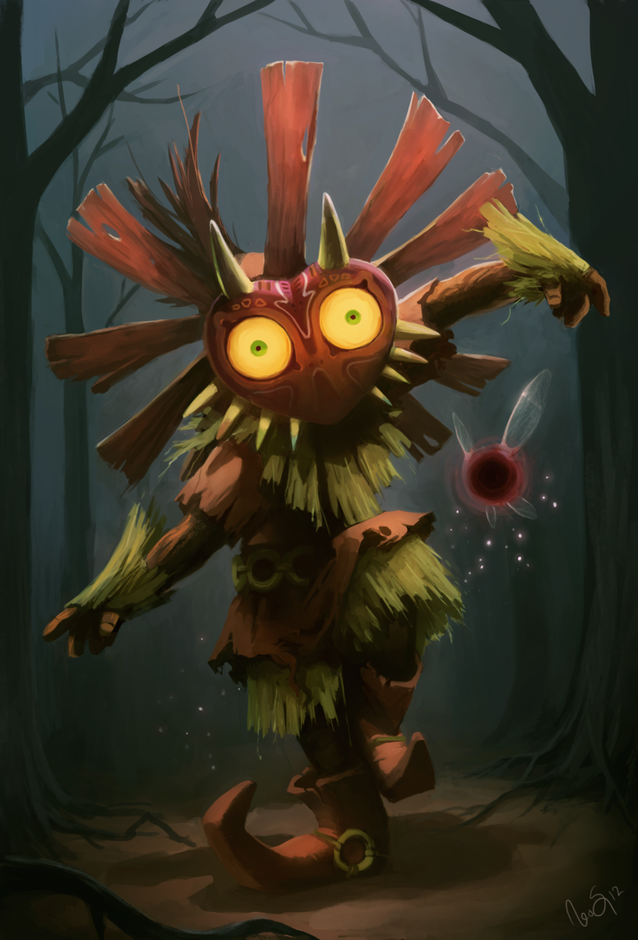 Skull Kid by Golden Whale 900x1326