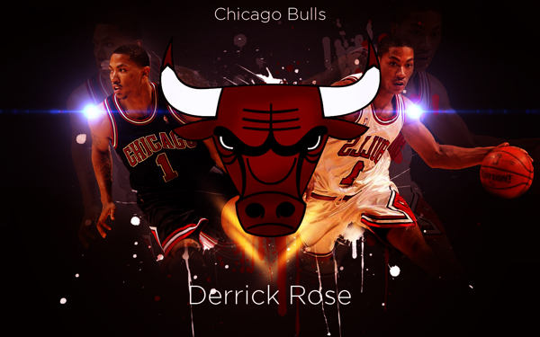 Derrick Rose Chicago Bulls Wallpaper on Behance 600x375