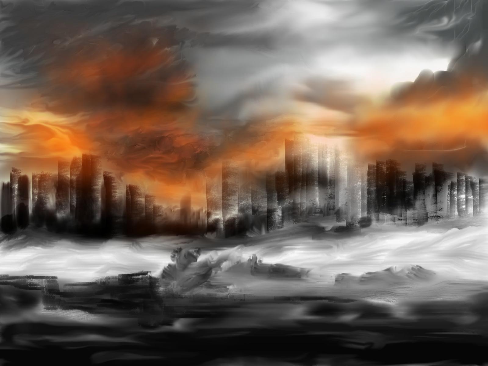 Sci Fi - Apocalyptic Armageddon Wallpaper