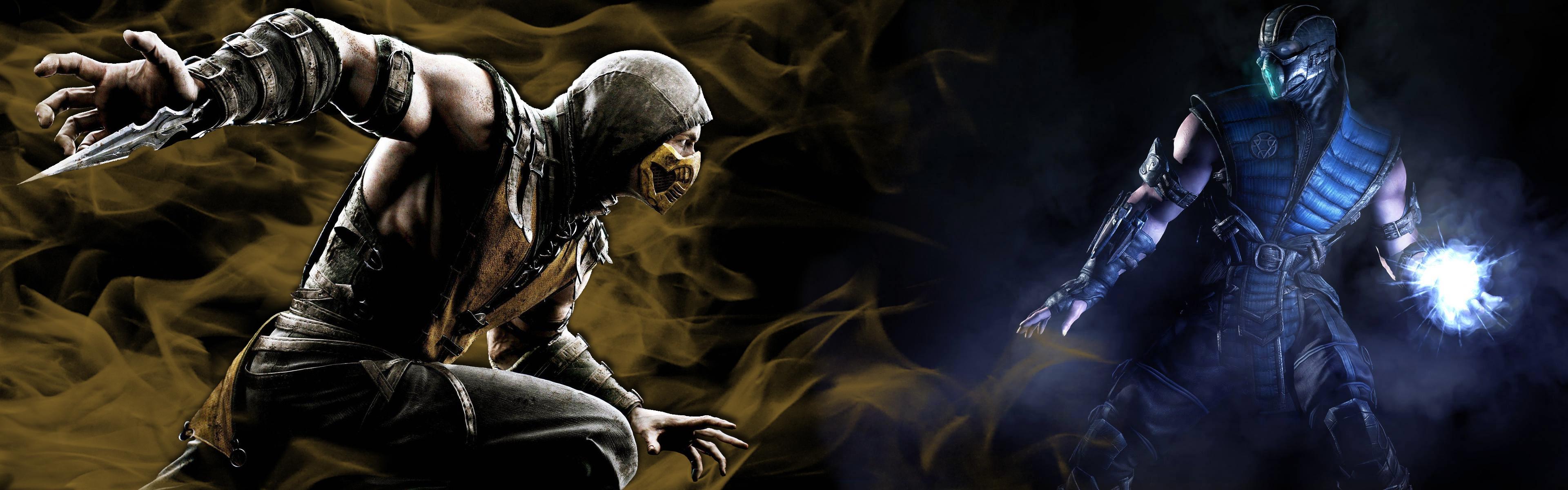 Mortal Kombat X Background Scorpion vs Sub Zero by Hentiger5544 on 3840x1200
