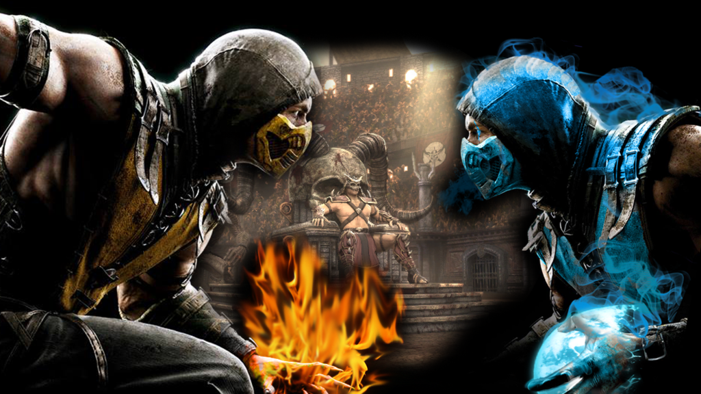 Mortal Kombat X Wallpaper Scorpion vs Sub Zero by PreSlice on 1024x576