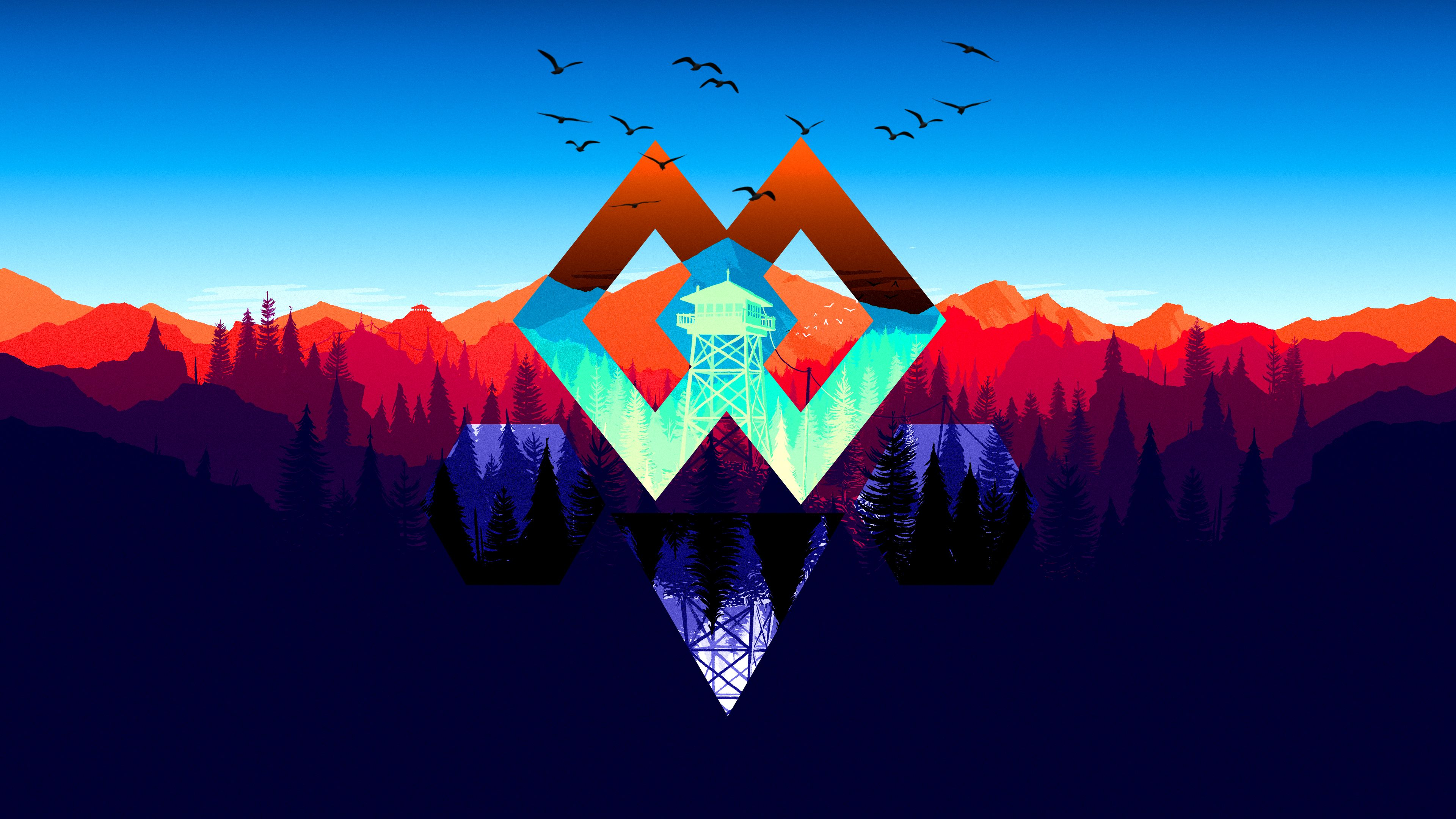 50 Firewatch Hd Wallpapers   Abstract Gaming Background 4k 3840x2160
