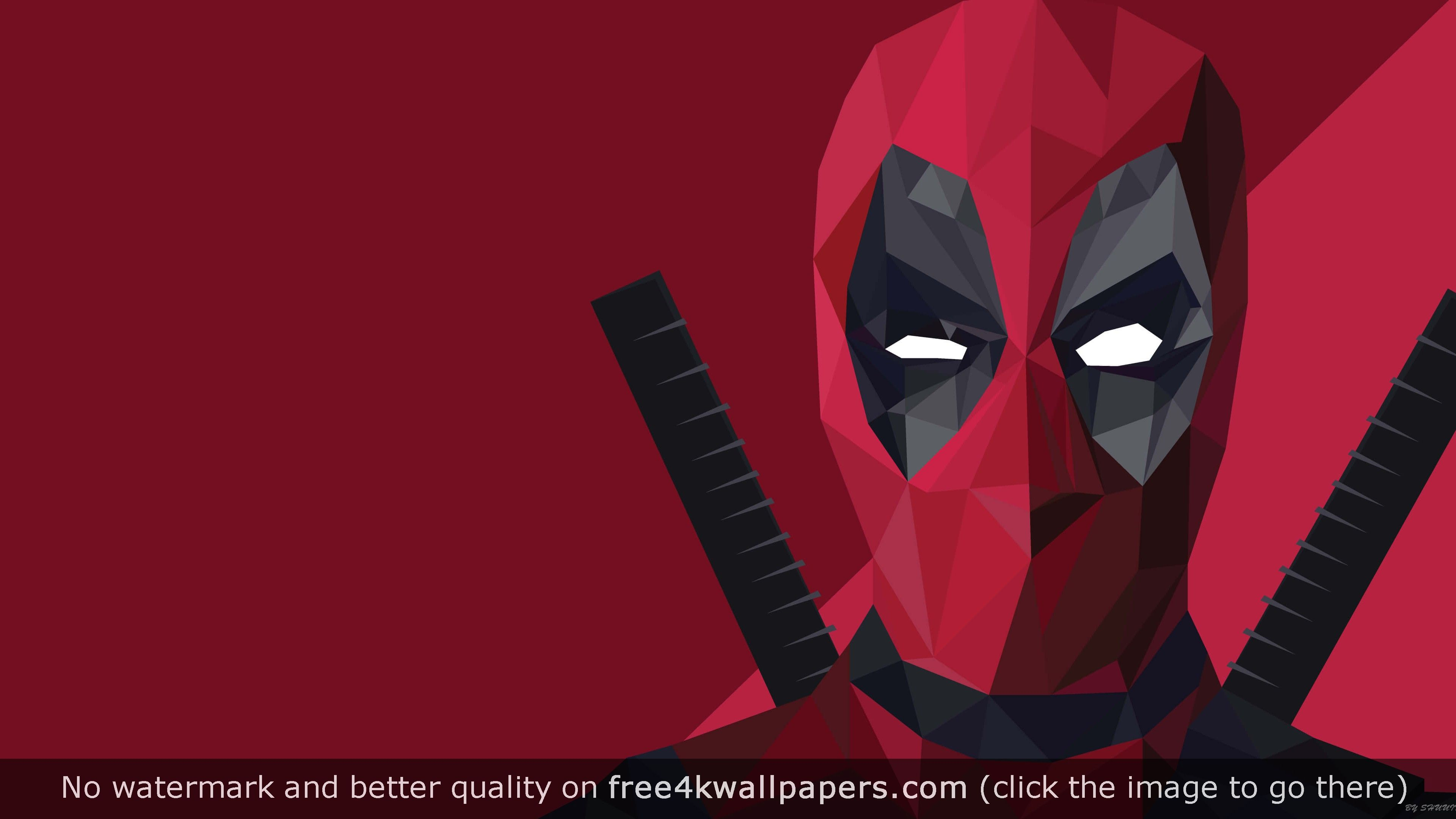 deadpool logo wallpaper 4k