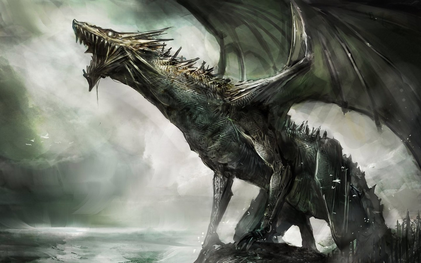 Alpha Coders Wallpaper Abyss Fantasy Dragon 319783 1440x900