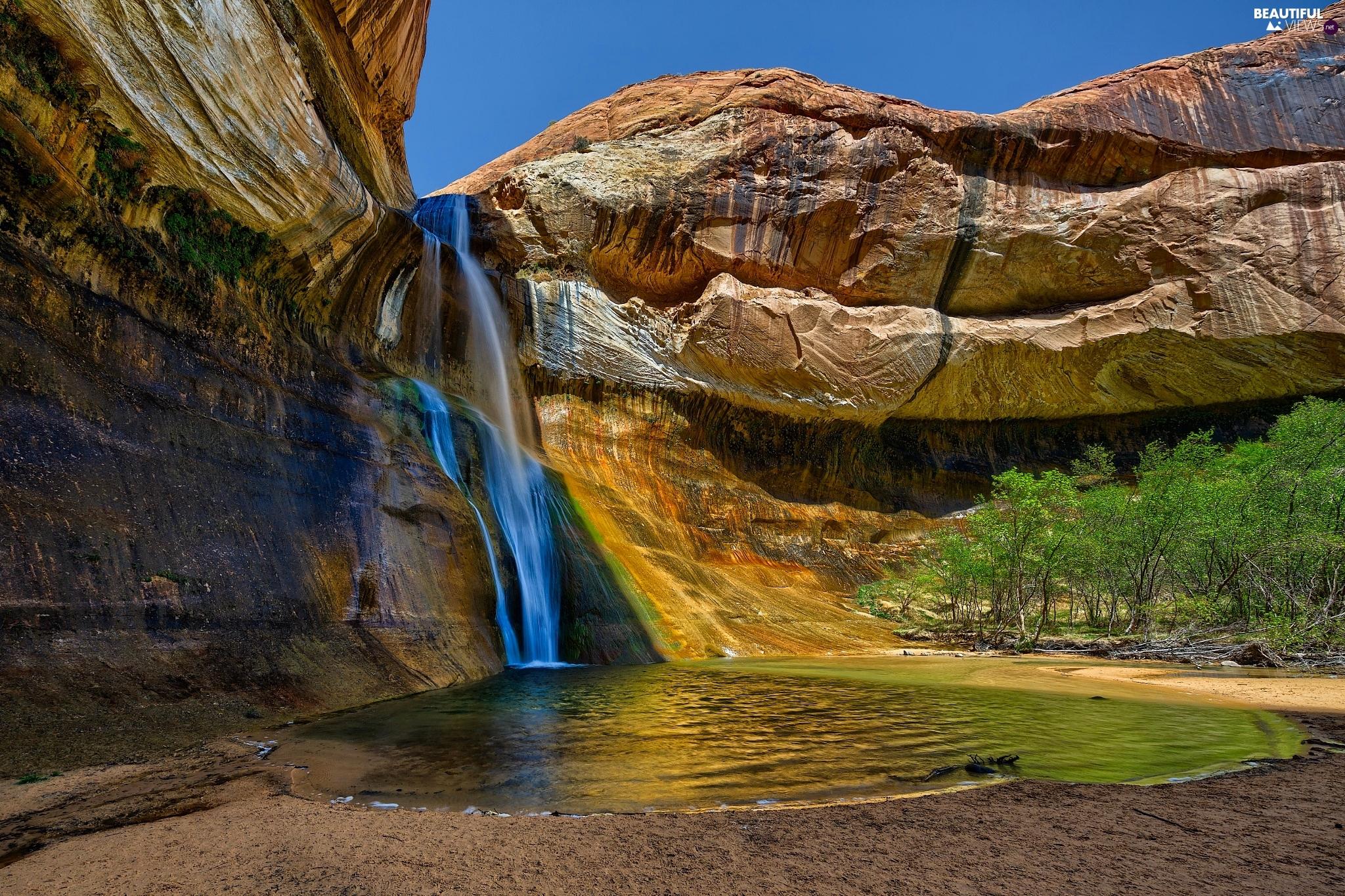 rocks Calf Creek Falls Utah State Capitol Reef National Park 2048x1365