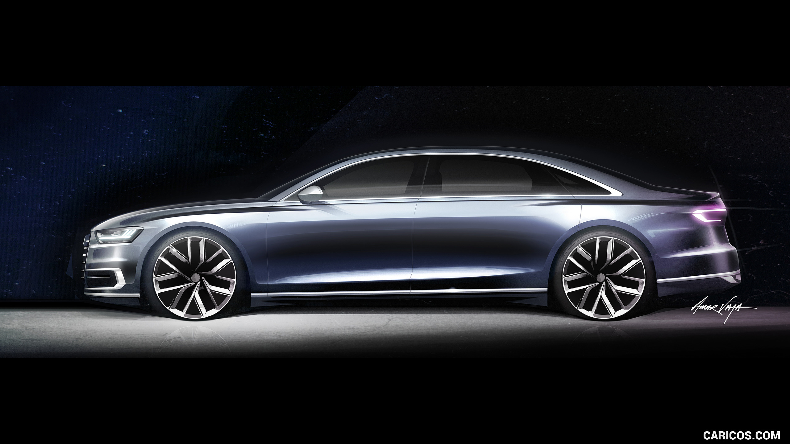 2018 Audi A8   Design Sketch HD Wallpaper 38 2560x1440