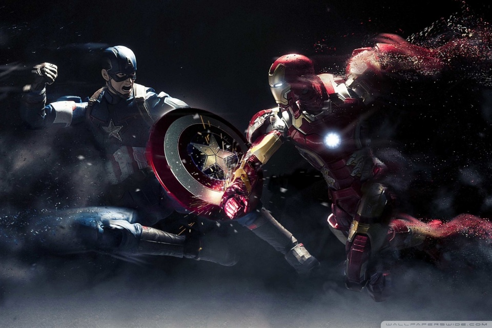 Captain America vs Iron Man 4K HD Desktop Wallpaper for 4K 960x640