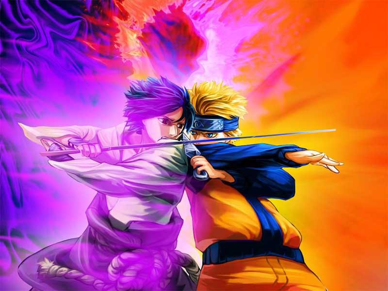 Top Cartoon Wallpapers Naruto Vs Sasuke Wallpaper 800x600