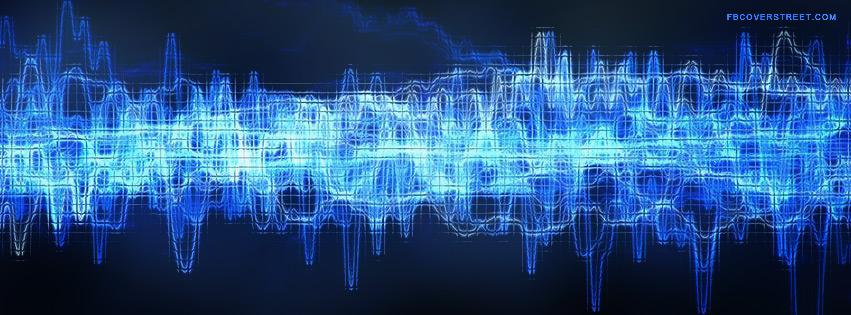 Blue Sound Wave Wallpaper 851x315