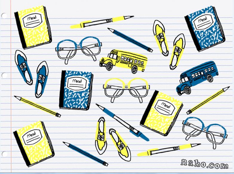 zakka life Back to School Desktop Wallpaper 783x583