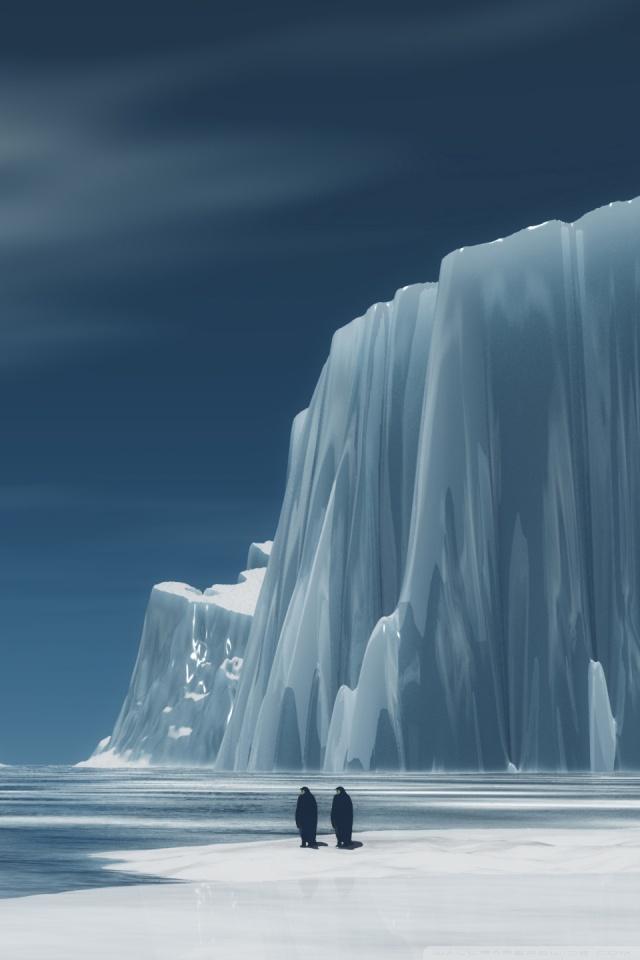 Penguins In Antarctica Ultra HD Desktop Background Wallpaper for 640x960