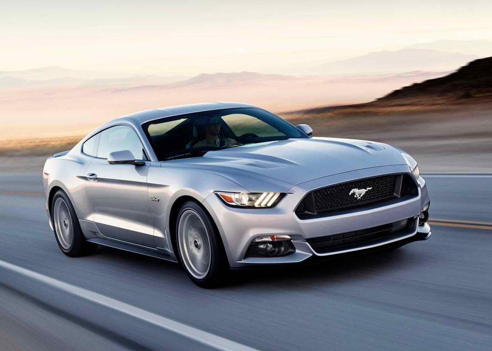 Name 2015 Ford Mustang GT Silver Photo Cool Background Wallpaper 1000x713