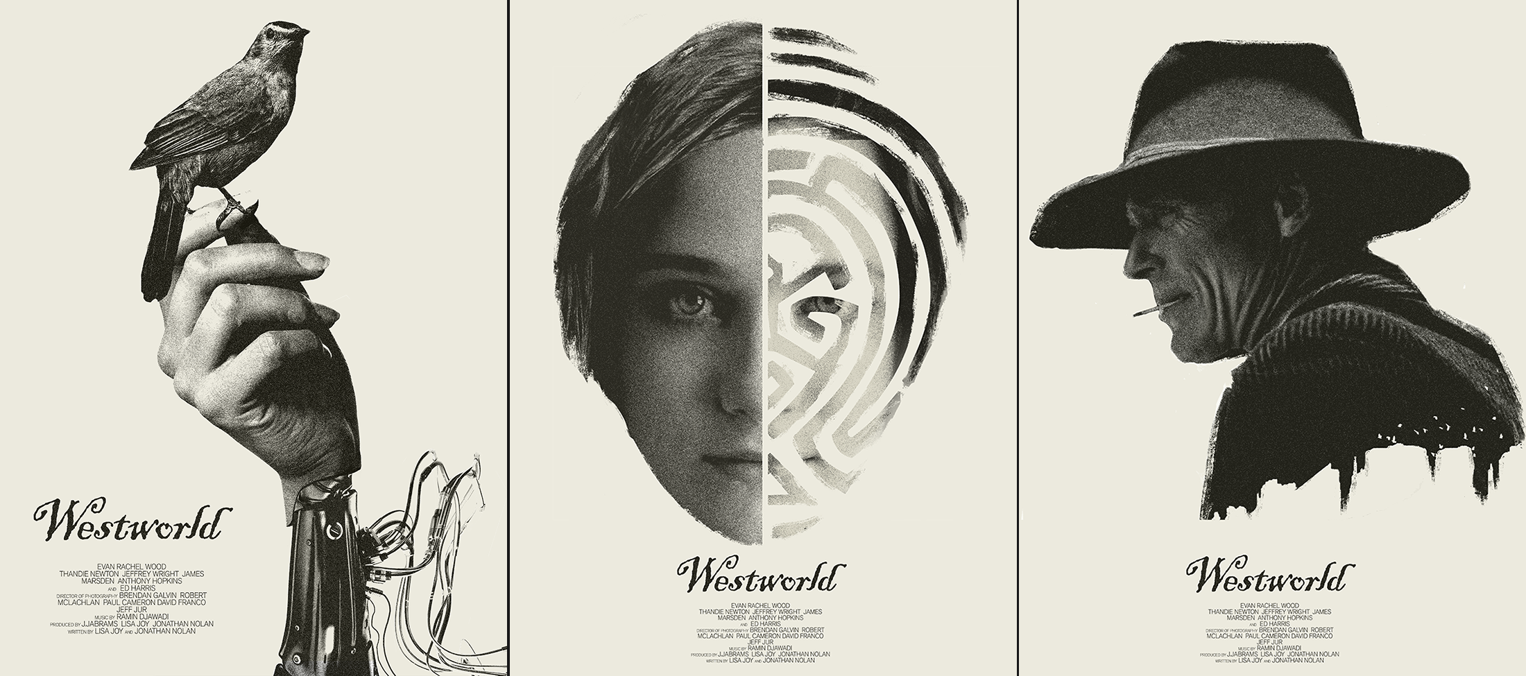 I made some fan posters for Westworld westworld 2200x975