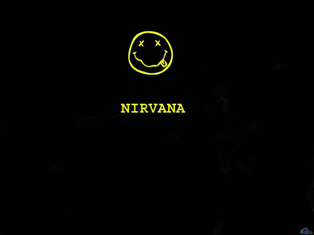 Wallpaper clean logo Nirvana Nirvana logo 1024x768