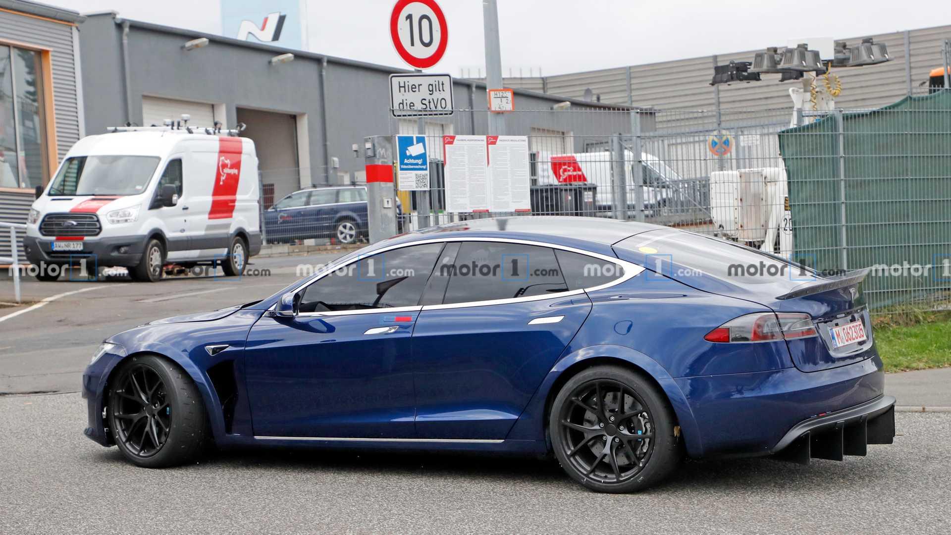 Tesla Model S Spied Back At The Nurburgring [UPDATE] 1920x1080