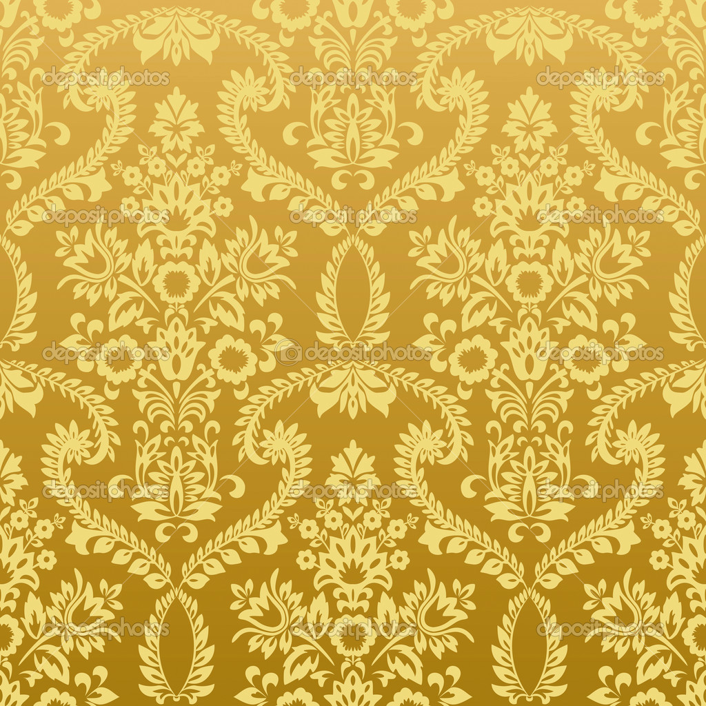 Gold Floral Pattern Wallpaper HD Wallpapers on picsfaircom 1024x1024