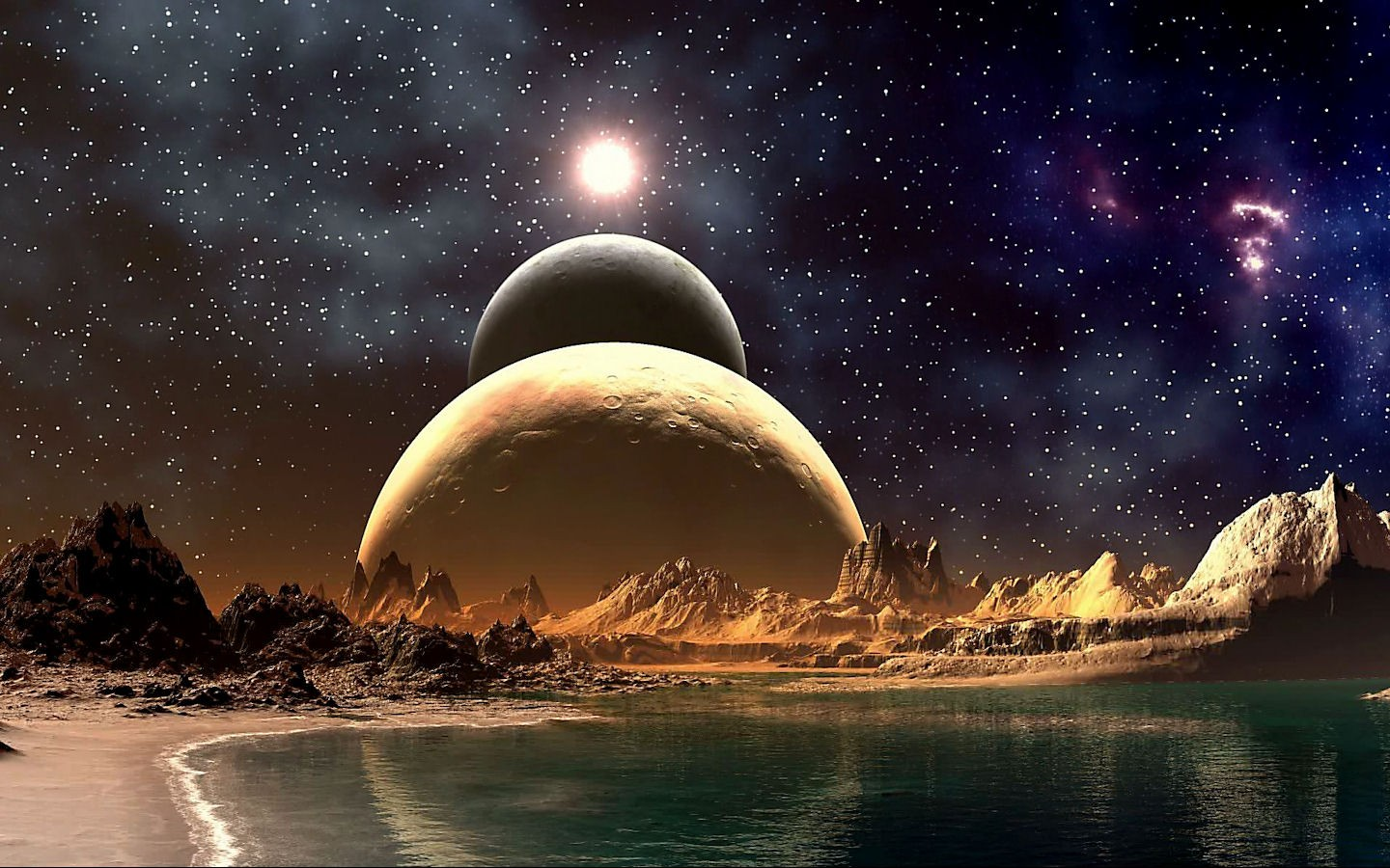 planets science fiction photomanipulations fresh new hd wallpaper best 1440x900