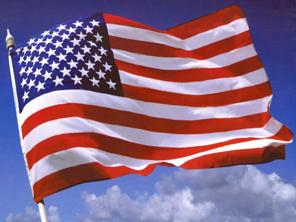 USA Flag Flying 1024x768