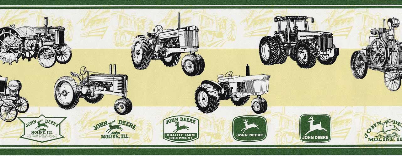 antique tractor wallpaper border under john deere john deere bedding 1281x500