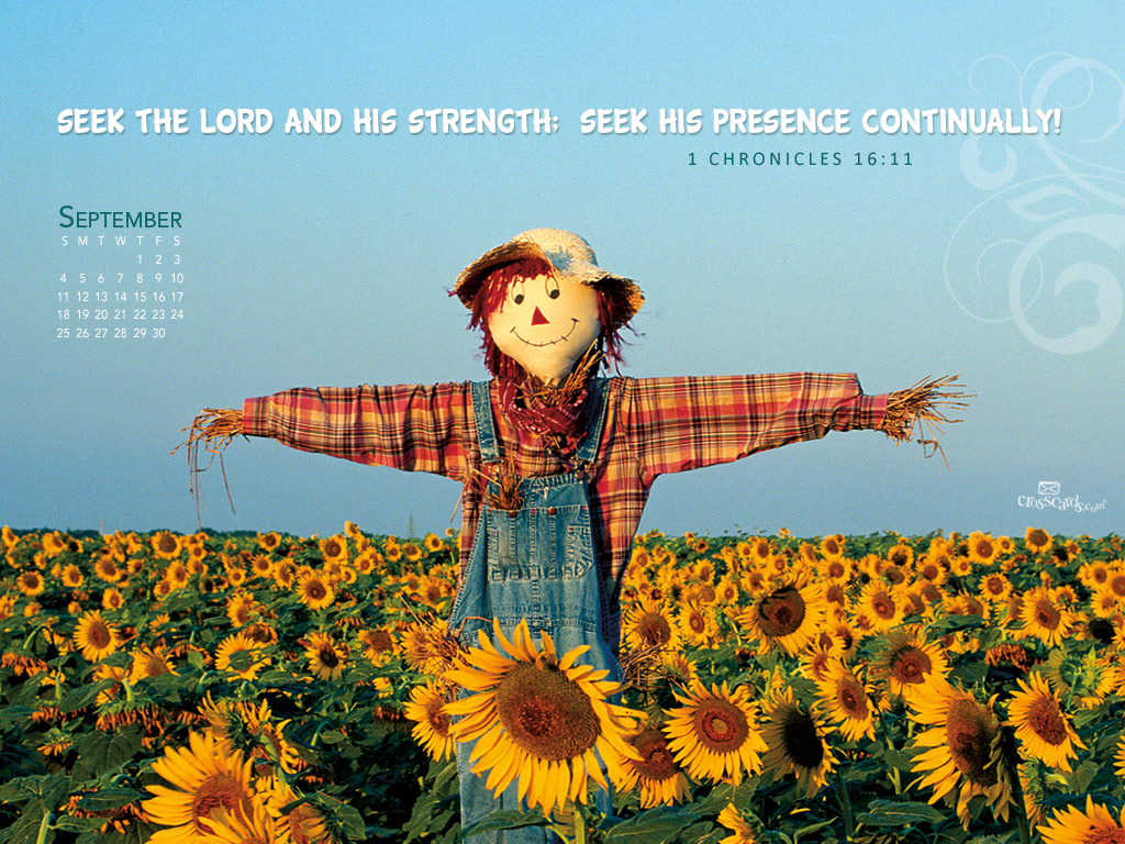 September 2011   Scarecrow Desktop Calendar  Monthly Calendars 1024x768