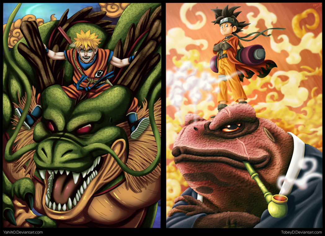 Collab Naruto   Son Goku by TobeyD 1048x763