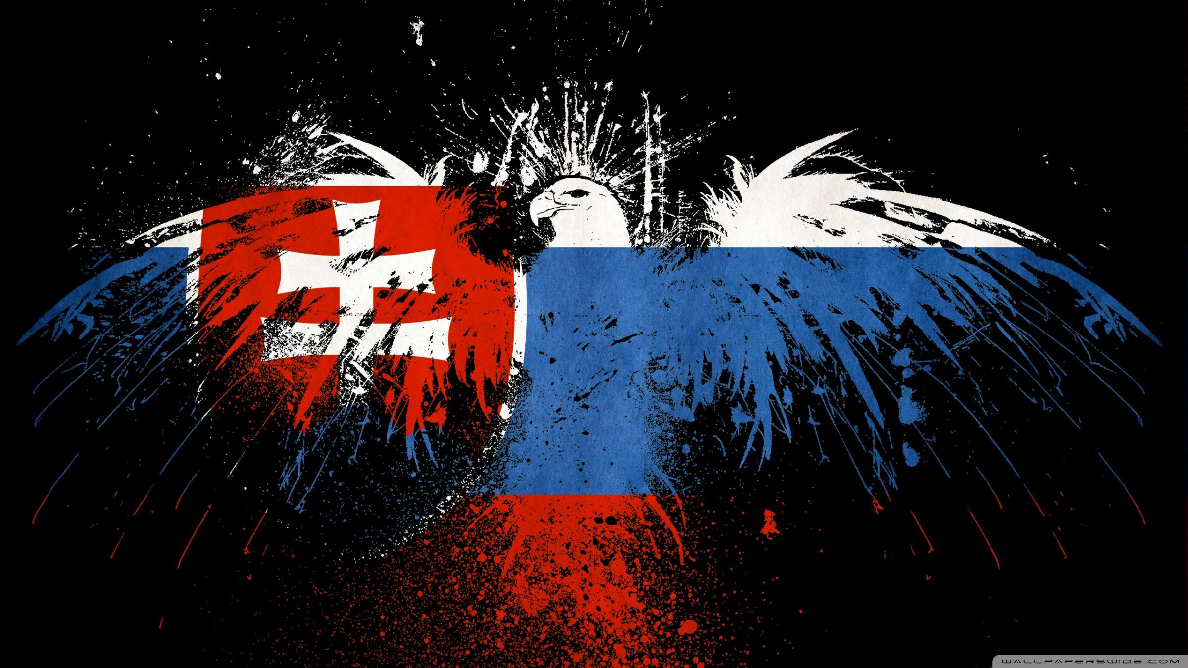 Grunge Flag Of Slovakia 4K HD Desktop Wallpaper for 4K Ultra HD 2400x1350