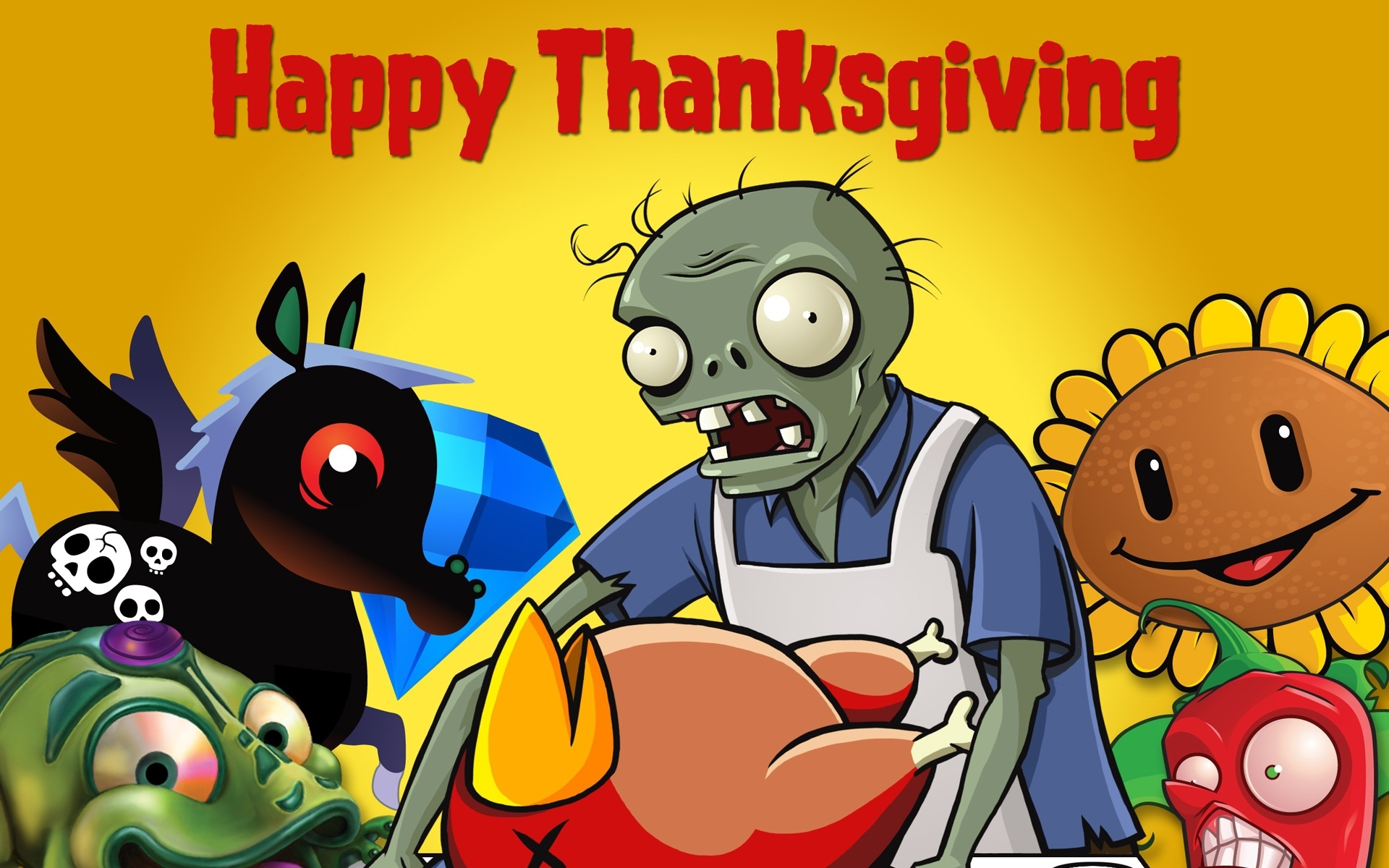 Zombie Thanksgiving Wallpaper Wallpapersafari