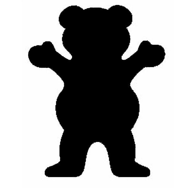 Grizzly Grip Logo Grizzly griptape bear logo 600x600