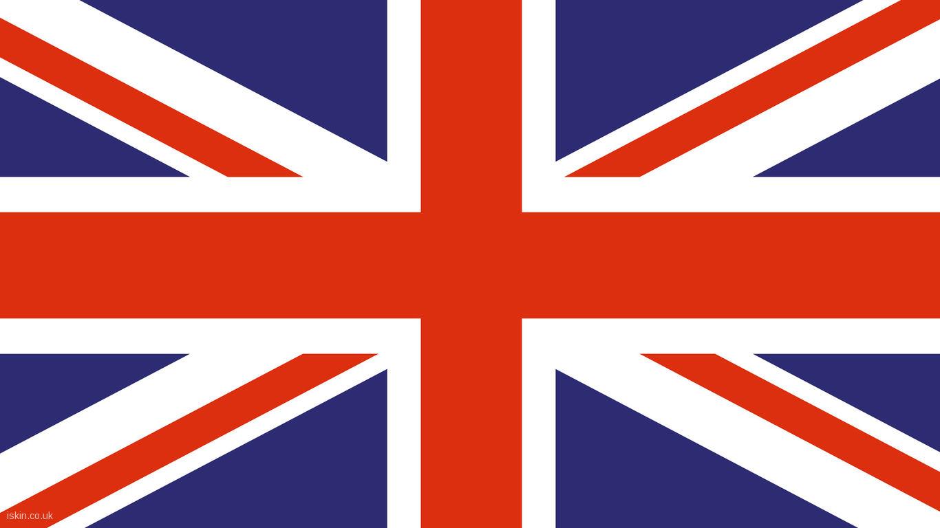 UK Union Flag Desktop Wallpaper iskincouk 1366x768