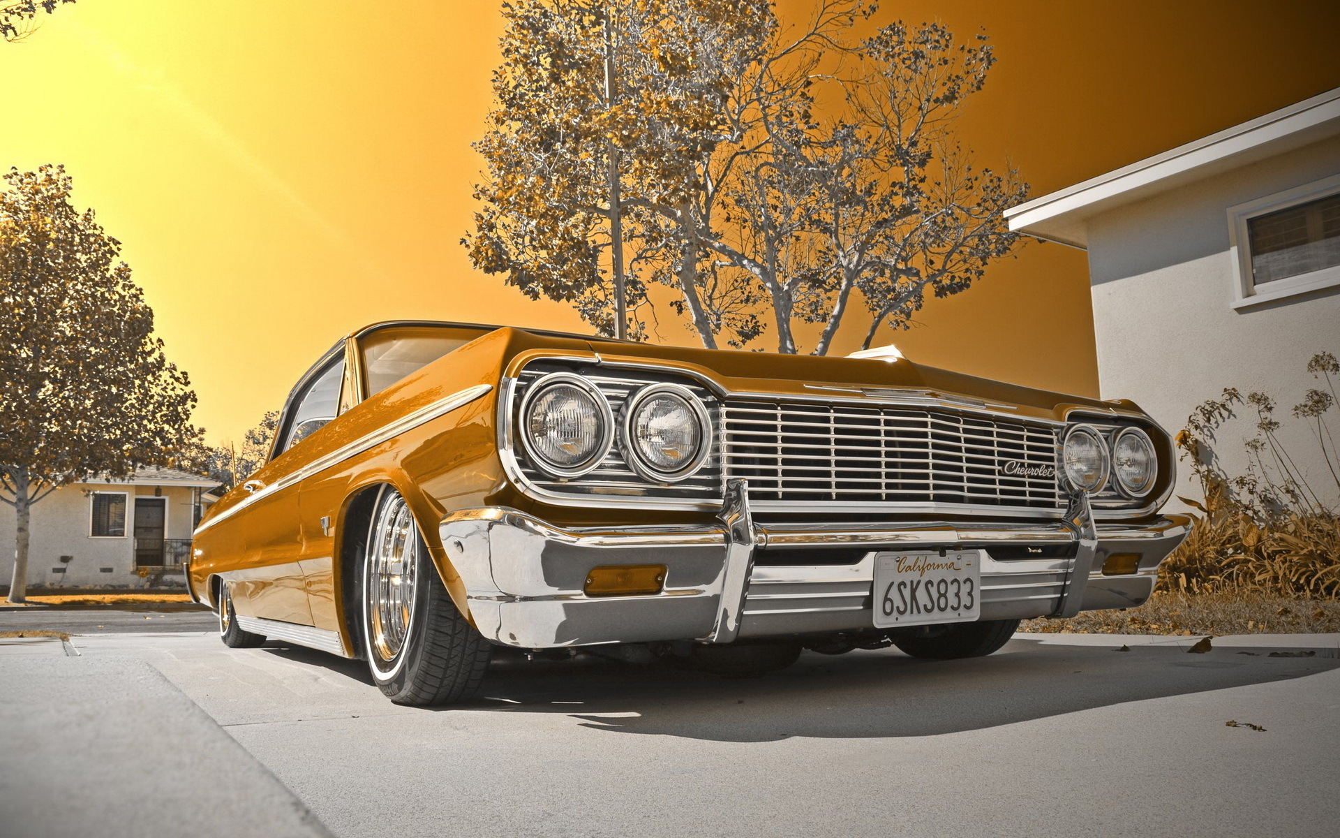 1964 Chevy impala lowrider muscle cars tuning wallpaper 1920x1200