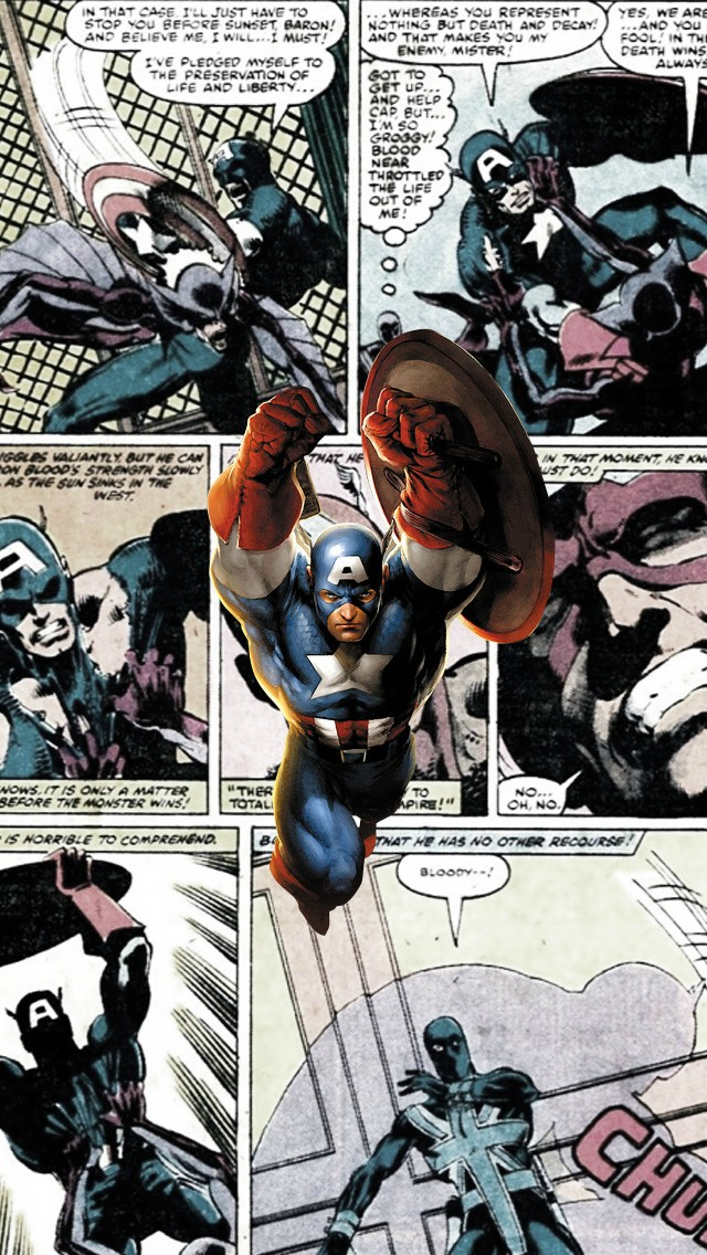 Captain America Comics   The iPhone Wallpapers 640x1136