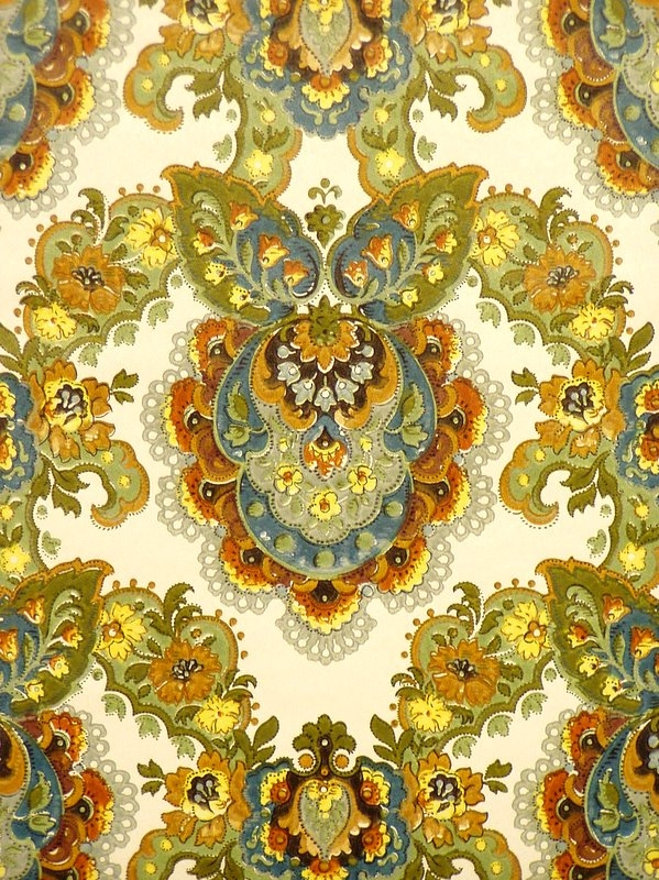 Vintage retro baroque wallpaper from the 60s   Vintage Wallpapers 599x800