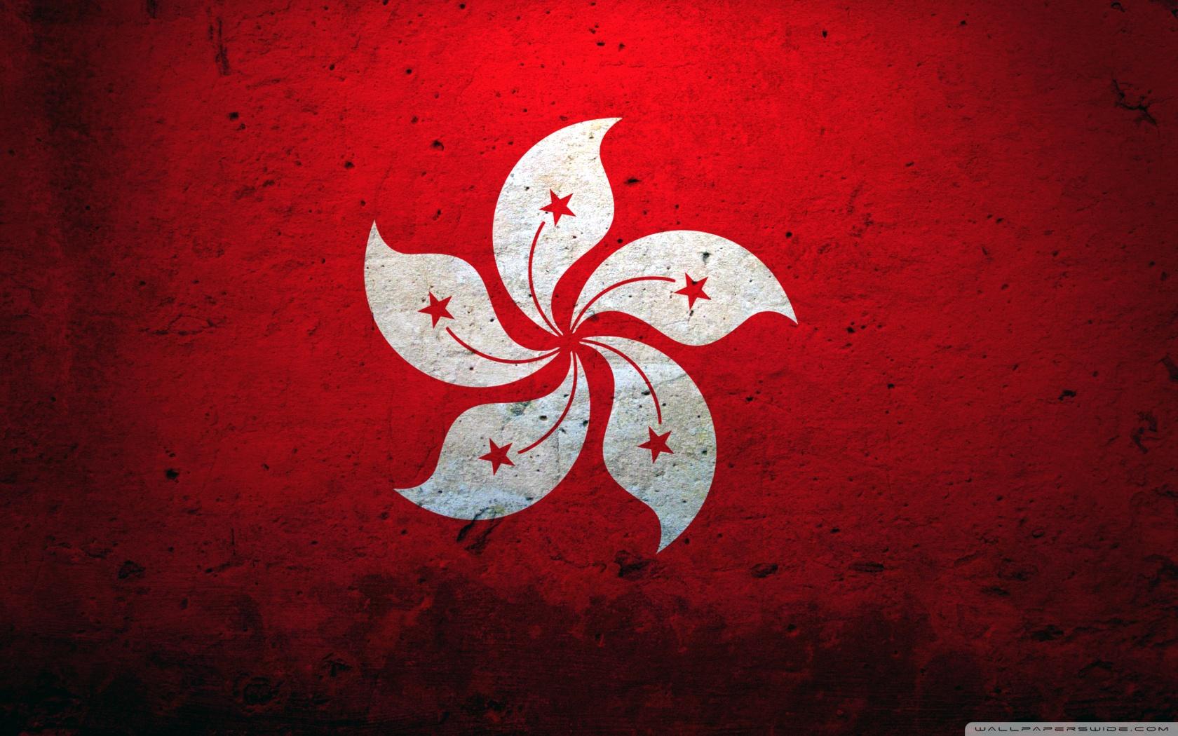 Hong Kong China Flag 4K HD Desktop Wallpaper for 4K Ultra HD TV 1680x1050