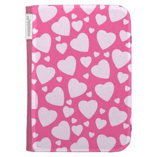 Pattern Cute Girly Heart Background Case For The Kindle Zazzle 512x512