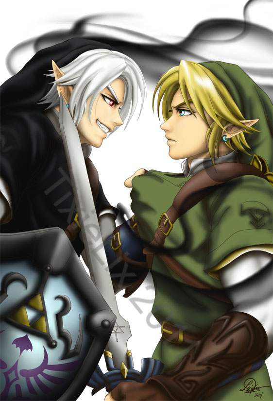 Dark Link vs Link by TixieLix 562x826