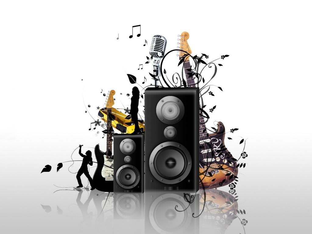 Spectacular Music Wallpapers Rock Music Speaker Bbackground Desktop 1024x768